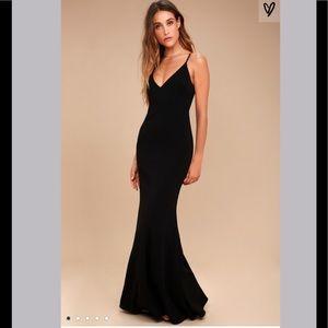 Lulu's Black Maxi Dress/Gown